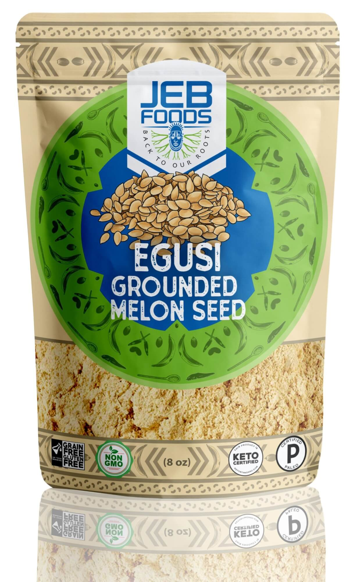 Egusi Ground Melon Seeds 1lb By Jeb Foods